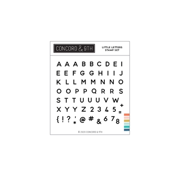 Concord & 9th LITTLE LETTERS Clear Stamp Set 11020