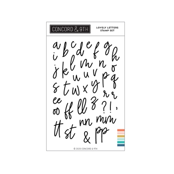 Concord & 9th LOVELY LETTERS Clear Stamp Set 11021