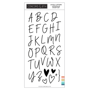Concord & 9th LOVELY LETTERS UPPERCASE Clear Stamp Set 11022