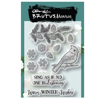 Brutus Monroe WINTER FLIGHT Clear Stamps bru1566