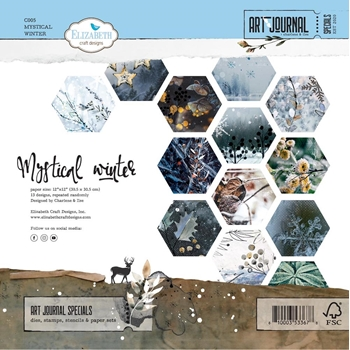 Elizabeth Craft Designs MYSTICAL WINTER 12x12 Paper c005