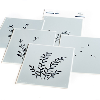 PinkFresh Studio ENCHANTING MEADOWS Layering Stencil Set pfst12