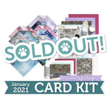 Simon Says Stamp Card Kit of the Month January 2021 SNOWFLAKE SEASON ck0121