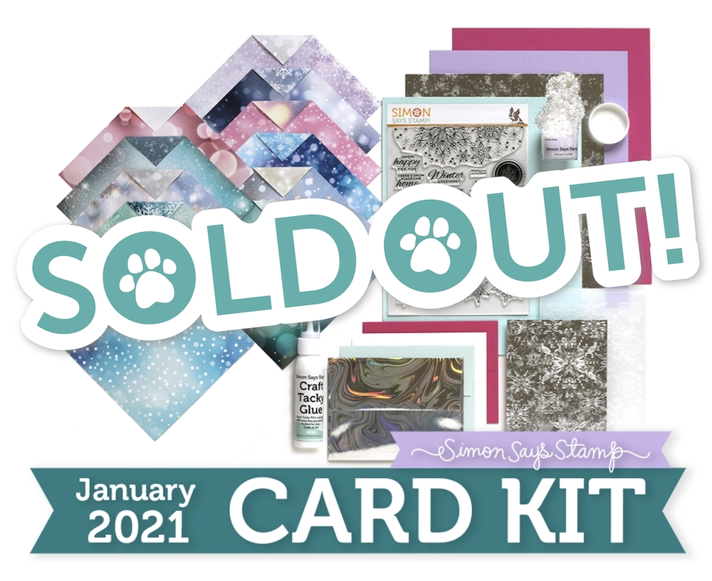 Simon Says Stamp Card Kit of the Month January 2021 SNOWFLAKE SEASON ck0121 zoom image