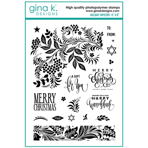 Gina K Designs HOLIDAY TAPESTRY Clear Stamps 7139 Preview Image