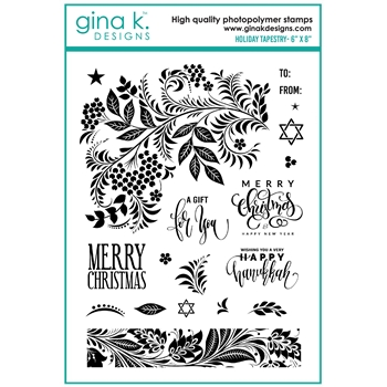 Gina K Designs HOLIDAY TAPESTRY Clear Stamps 7139