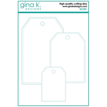 Gina K Designs TAG TRIO Die Set 7160
