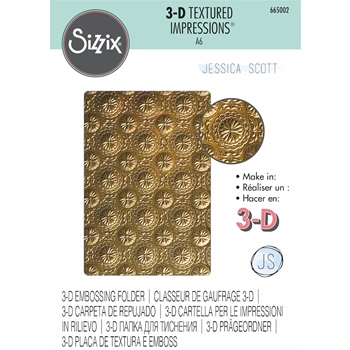 Sizzix Textured Impressions BLOSSOM 3D Embossing Folder 665002