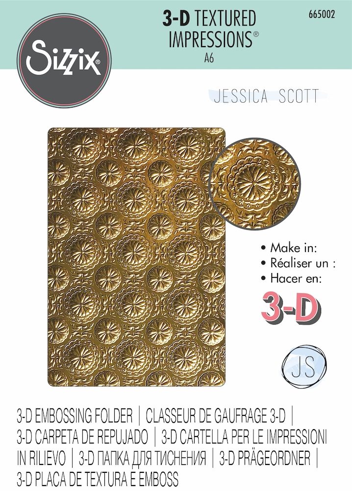 Sizzix Textured Impressions BLOSSOM 3D Embossing Folder 665002  zoom image