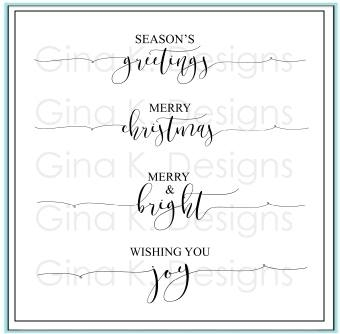 Gina K Designs SCRIPTY HOLIDAY Clear Stamps 6635