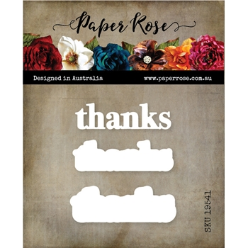 Paper Rose THANKS CHUNKY DOUBLE LAYERED Dies 19541