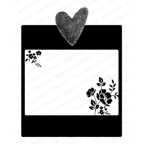 Impression Obsession Cling Stamp HEART FRAME F20908 Preview Image