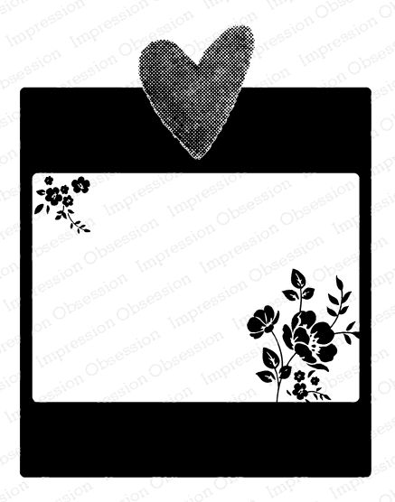 Impression Obsession Cling Stamp HEART FRAME F20908 zoom image