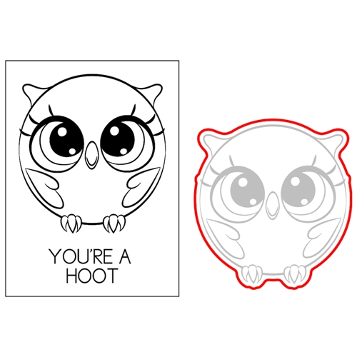 Brutus Monroe HOOT THE OWL Roundimals Stamp and Die bru2457 Preview Image