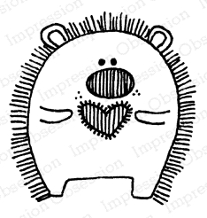 Impression Obsession Cling Stamp HEDGEHOG BOY C12333