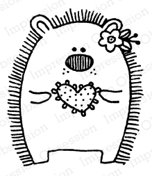 Impression Obsession Cling Stamp HEDGEHOG GIRL C12334
