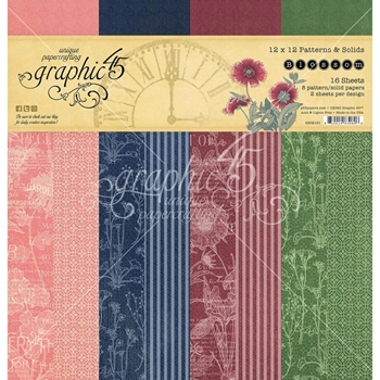 Graphic 45 BLOSSOM 12 x 12 Patterns And Solids Paper Pad 4502161