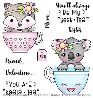 Darcie's BESTEA Clear Stamp Set pol482 Preview Image