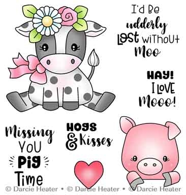 Darcie's LOST WITHOUT MOO Clear Stamp Set pol483 Preview Image