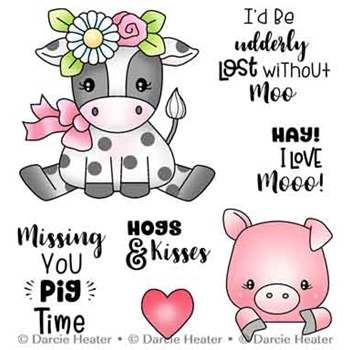 Darcie's LOST WITHOUT MOO Clear Stamp Set pol483