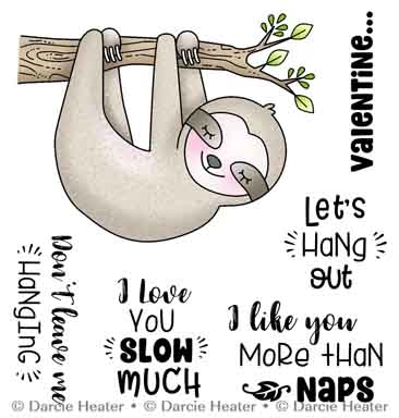 Darcie's HANG OUT Clear Stamp Set pol484 Preview Image