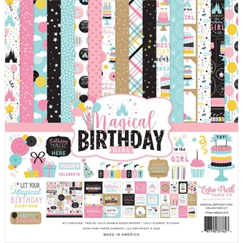 Echo Park MAGICAL BIRTHDAY GIRL 12 x 12 Collection Kit mbg231016