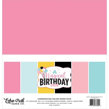 Echo Park MAGICAL BIRTHDAY GIRL 12 x 12 Solids Paper Pack mbg231015