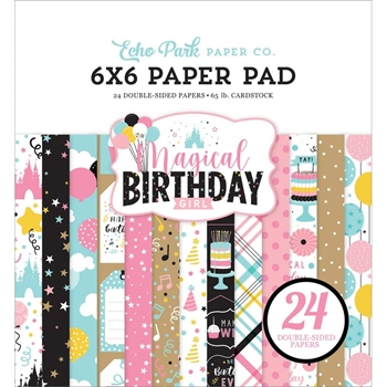 Echo Park MAGICAL BIRTHDAY GIRL 6 x 6 Paper Pad mbg231023