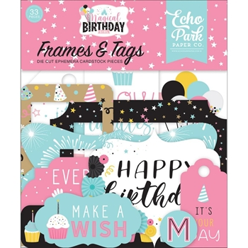 Echo Park MAGICAL BIRTHDAY GIRL Ephemera Frames And Tags mbg231025