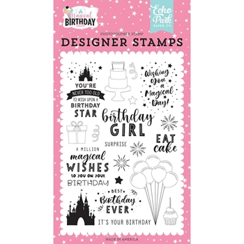 Echo Park BIRTHDAY MAGIC Clear Stamps mbg231043