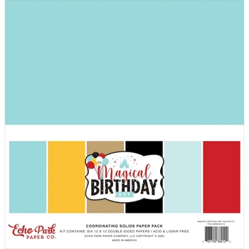 Echo Park MAGICAL BIRTHDAY BOY 12 x 12 Solids Paper Pack mbb232015