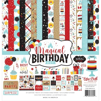 Echo Park MAGICAL BIRTHDAY BOY 12 x 12 Collection Kit mbb232016