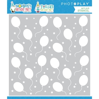 PhotoPlay TULLA AND NORBERT'S BIRTHDAY BALLOONS Stencil tbd2451