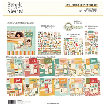 Simple Stories HELLO TODAY 12 x 12 Collector's Essential Kit 14429