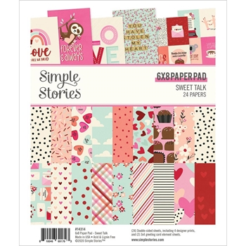 Simple Stories SWEET TALK 6 x 8 Paper Pad 14314