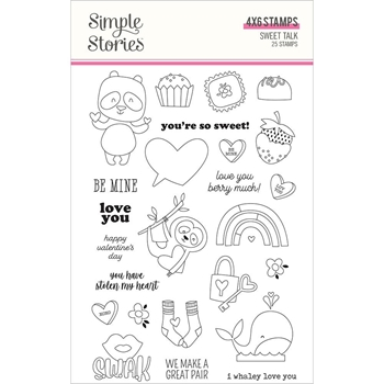 Simple Stories SWEET TALK Clear Stamp Set 14324