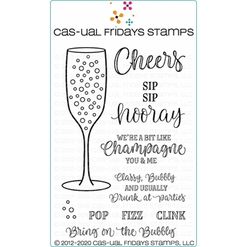 CAS-ual Fridays POP FIZZ CLINK Clear Stamps cfs2015