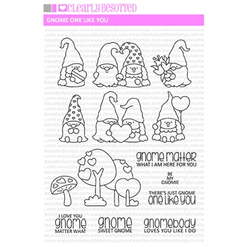 Clearly Besotted GNOME ONE LIKE YOU Clear Stamps