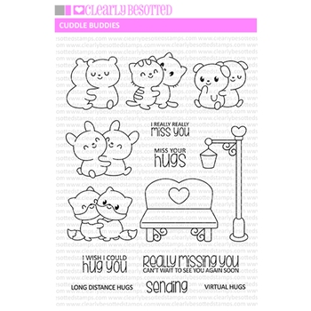 Clearly Besotted CUDDLE BUDDIES Clear Stamps