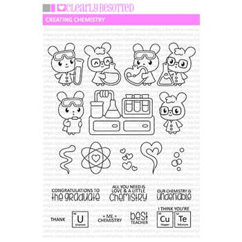 Clearly Besotted CREATING CHEMISTRY Clear Stamps