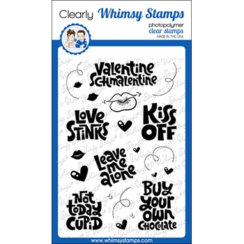 Whimsy Stamps KISS OFF Clear Stamps CWSD268a