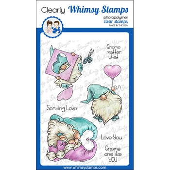 Whimsy Stamps GNOME ONE LIKE YOU Clear Stamps C1371