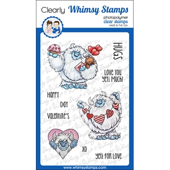 Whimsy Stamps YETI FOR LOVE Clear Stamps C1372