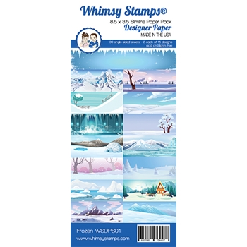 Whimsy Stamps SLIMLINE FROZEN 8.5 x 3.5 Paper Pack WSDPS01