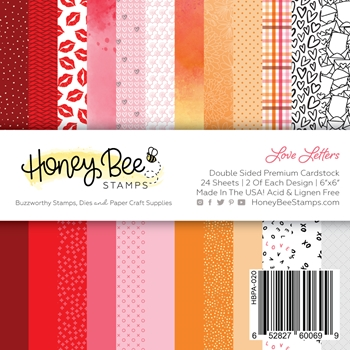 Honey Bee LOVE LETTERS 6 x 6 Paper Pad hbpa020