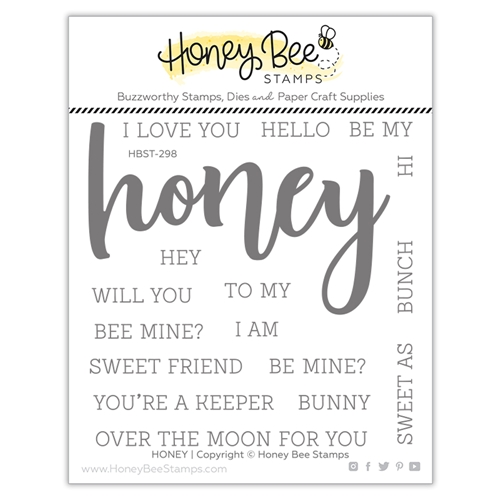 Honey Bee HONEY BUZZWORD Clear Stamp Set hbst298* Preview Image