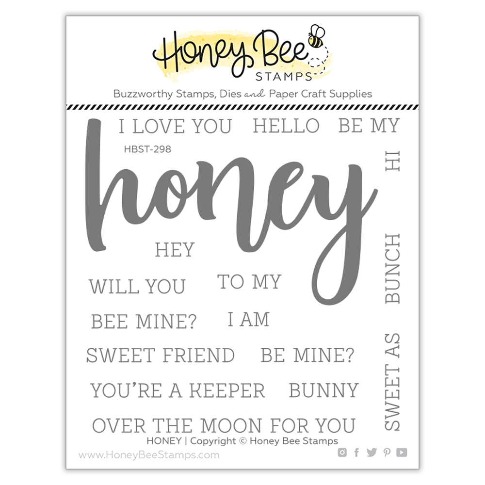 Honey Bee HONEY BUZZWORD Clear Stamp Set hbst298* zoom image