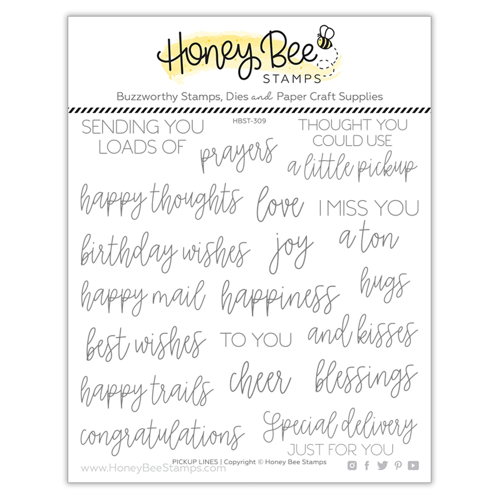 Honey Bee PICKUP LINES Clear Stamp Set hbst309 zoom image