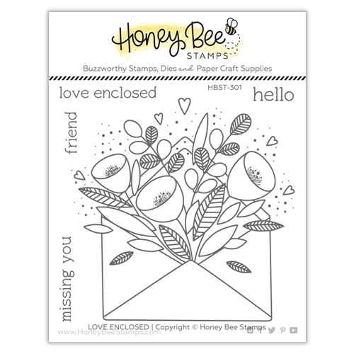 Honey Bee PRETTY POSTAGE Clear Stamp Set hbst301 Preview Image