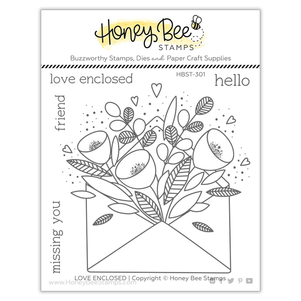 Honey Bee PRETTY POSTAGE Clear Stamp Set hbst301 zoom image